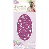 Crafters Companion - Signature Butterfly Lullaby Collection - Oval 3D Butterfly Die -  S-BL-MD-OB
